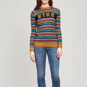Etre Cecile Rainbow Metallic Logo Sweater